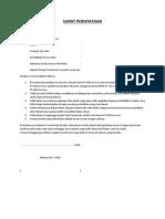 Surat Pernyataan Rekrutmen PT PJB Services