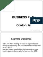 Contoh Business Plan-Presentation