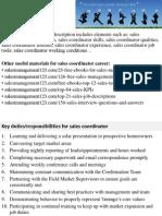 sales coordinator job description 13 marketing coordinator job