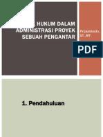 Aspek Hukum Dalam Administrasi Proyek-pertemuan 1