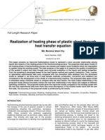 Realization of Heating Phase of Plastic Sheet Through Heat Transfer Equation