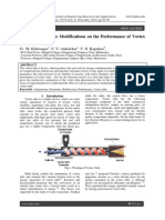 Effect of Geometric Modifications on the Performance of Vortex Tube - A Review