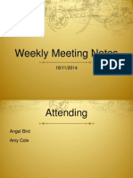 Meeting Notes 9