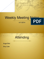 Meeting Notes 7