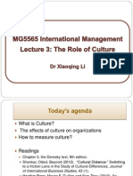 Lecture 3 the Role of Culture 2014-15(1)