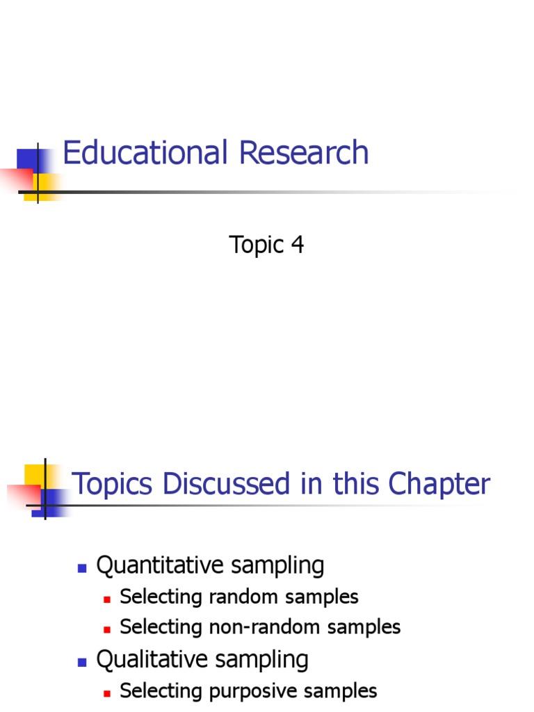 random research topics