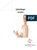 Asistent Manager - Tema 2
