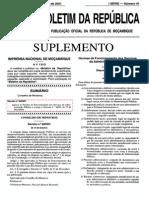 Decreto  nº 30/2001