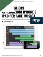 Le 22 Migliori Applicazioni iPhone e iPad Per Fare Musica - Audio Editing Per Tutti
