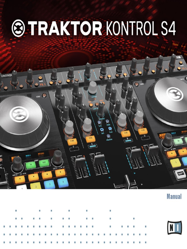 traktor kontrol s4 mk2 manual english i tunes disc jockey rh scribd com traktor s4 manual pdf traktor s2 manual