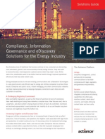 Compliance, Information Governance and eDiscovery Solutions for the Energy Industry