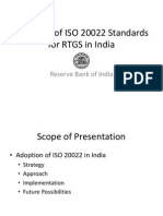 RBI's Experience on Adoption of ISO 20022 for RTGS - Dr a S Ramasastri, CGM-In-Charge, Dr AK Hirve, CGM and Dr a K Sharma, GM From DIT
