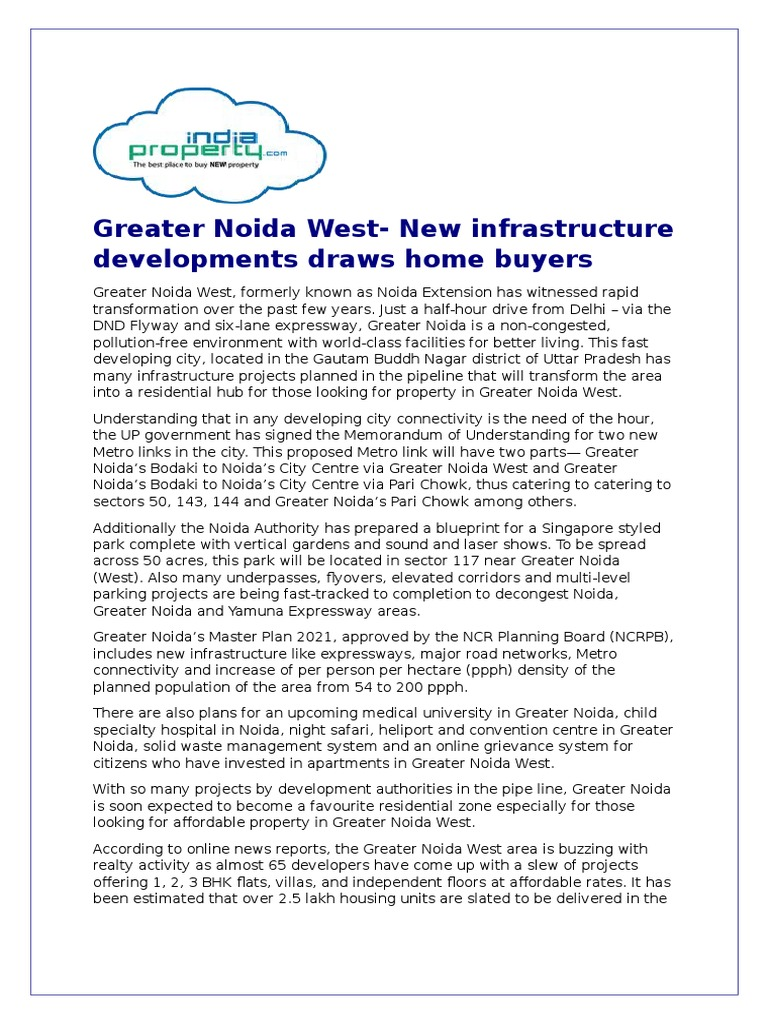 Greater noida west new infrastructure developments draws home greater noida west new infrastructure developments draws home buyers economies transport malvernweather Image collections
