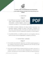 Regulamento Geral Para as Residências de Estudantes Dos SAS IPL