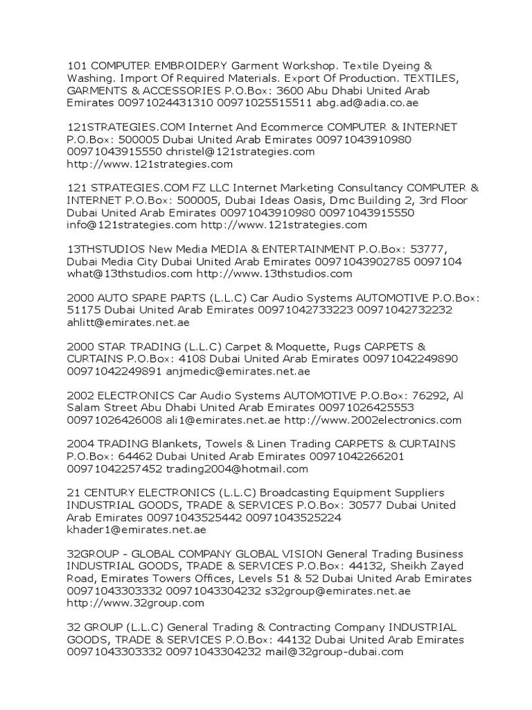 Carthage Auto Parts >> Companies details contacts for U.A.E