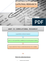 Correlational Research RM REPORT