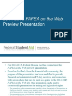 FAFSA on the web Prevew