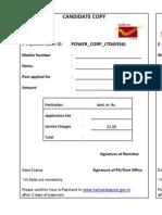 KPCL Payment Challan