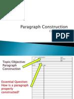 l16 part b - end of unit 2 paragraph construction and assessment