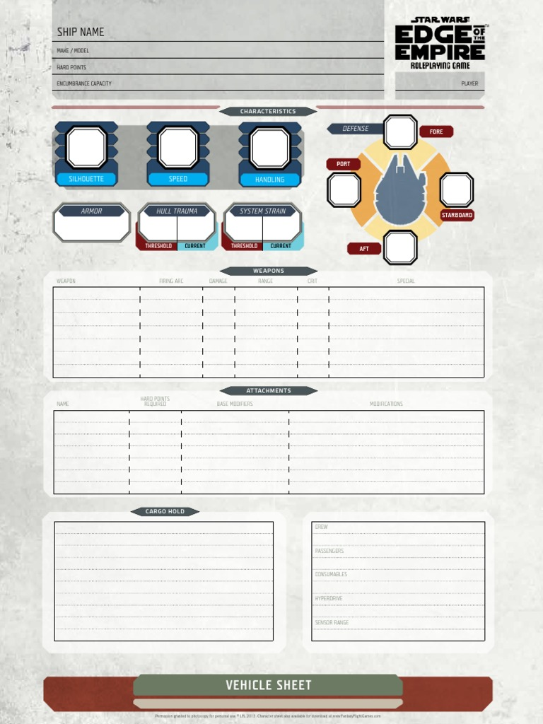 Eote Fillable Vehicle Sheet