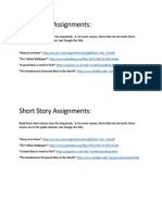 short story assignments for nov  6