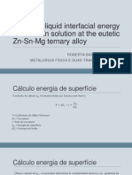 The Solid-liquid Interfacial Energy for Solid Zn Solution