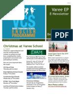 Varee School EP Newsletter December 2014