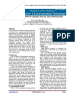 Implementation of VOIP Communication on Embedded Systems