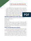Procedure for Column Line Stress Analysis