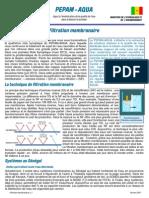 Fiche Synoptique 4 - Filtration Membranaire