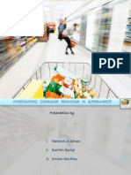 Investigating Consumer Behaviour in Supermarkets
