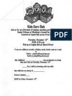 Kids Care Club Flyer
