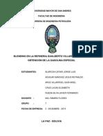 Blending en La Refineria Gualberto Villarroel Para La Obtencion de La Gasolina Especial (PROYECTO CORREGIDO GRUPO 7)