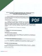 Acta Ordinaria 470 CORE 2013
