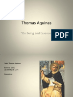 Aquinas Being and Essence