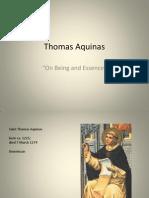 Aquinas Being and Essence