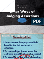 Other Ways of Assertions