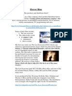 Horror Films Case Studies and Their Companies