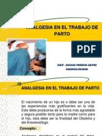 Analgesia en El Trabajo de Parto Dr. Egusquiza