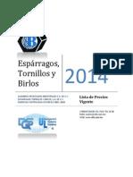 ListadePrecios-2013 TORNILLERIA