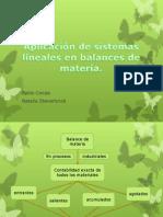 Aplicación de sistemas lineales en balances de materia.pptx