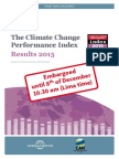 The Climate Change Performance Index - Results 2015