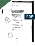 Estatuto Do Servidor Publico Municipal de Barauna-RN - Completo