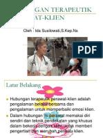 HUBUNGAN TERAPEUTIK PERAWAT-KLIEN KULIAH.ppt