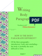 E Body Paragraphs