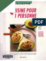 [eBook - Cuisine] Recettes Pour 1 Personne - Petits Pratiques Hachette (61 Pages)_faltan Pgs
