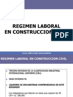 Regimen Laboral Construccion Civil 2009 - 2010