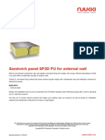 Sandwich Panel SP2D PU for External Wall