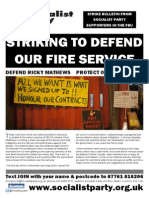 Striking to defend our Fire Service