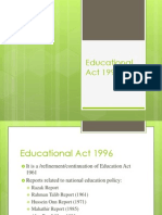 Educational Act 1996